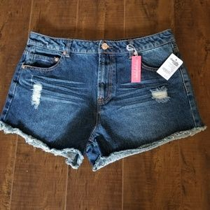 Charlotte Russe Women's Distressed Jean Shorts 10